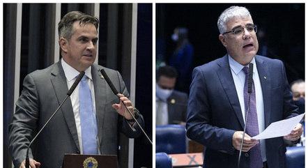 Ciro Nogueira (PP-PI) e Eduardo Girão (Podemos-CE)