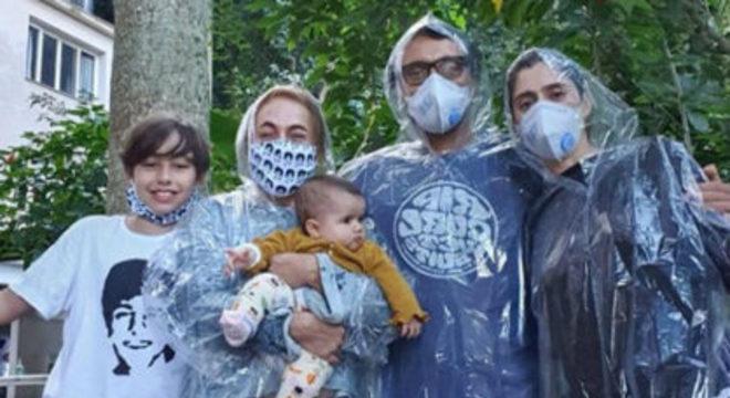 Cissa Guimaraes encontrou uma forma diferente de ver a família
