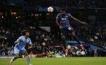 O meia do time alemão, Nkunku diminuiu o placar com um gol de cabeça. Pouco adintou já que o City ampliou o placar logo em seguida com um gol de pênalti, cobrado por Marhez, aos 47 minutos do primeiro tempo