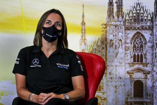 Claire Williams em seu último fim de semana com chefe de equipe
