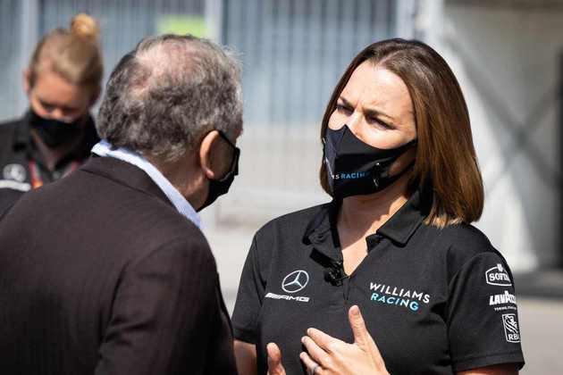 Claire Williams em seu último fim de semana como chefe de equipe