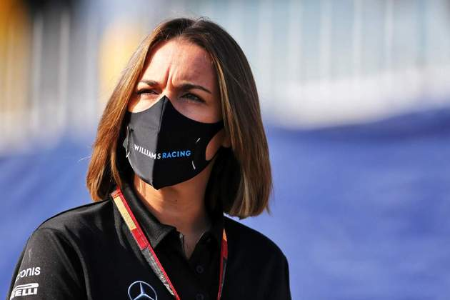 Claire Williams em seu último final de semana como chefe de equipe