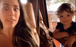Em um vídeo publicado por Tatá nesta semana, Clara Maria aparece brincando de 'dar um susto' na mãe