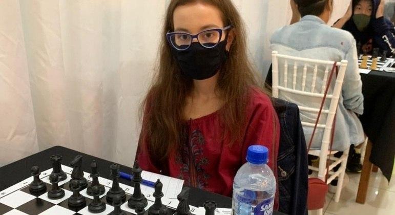 Clarice: sonho em chegar ao torneio panamericano de xadrez escolar