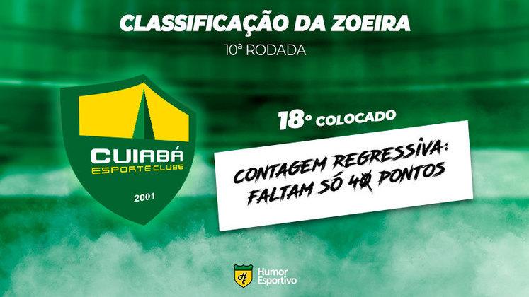 Classificação da Zoeira: 18º colocado - Cuiabá