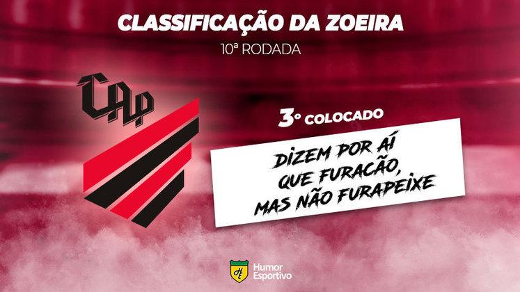 Classificação da Zoeira: 3º colocado - Athletico Paranaense