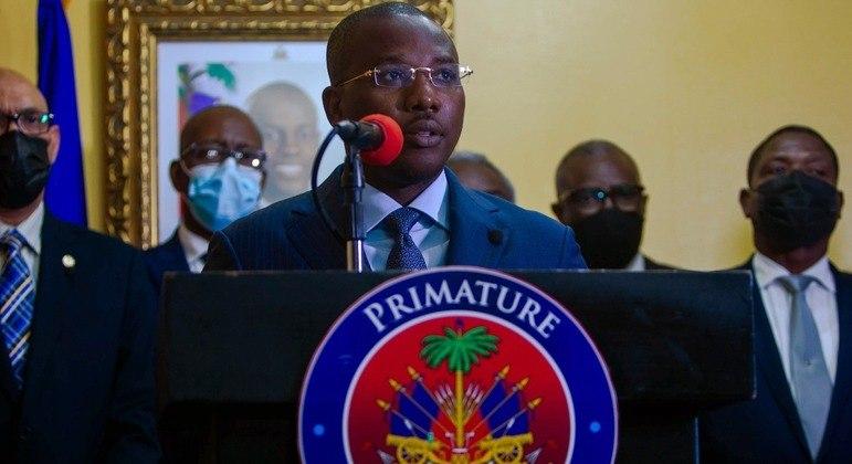 O primeiro-ministro interino do Haiti, Claude Joseph