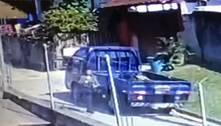 Imagens mostram fuga de filha após matar o próprio pai em SP