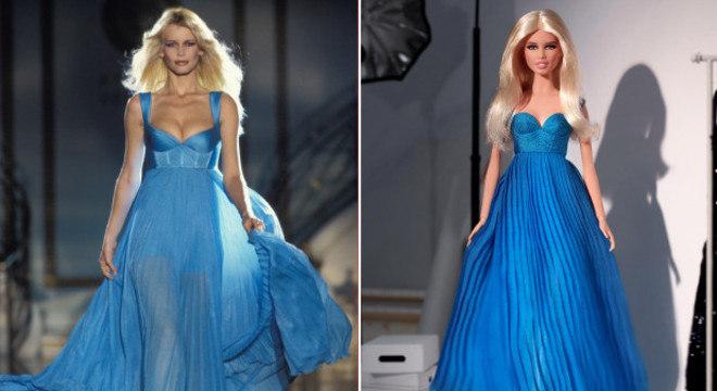 Claudia Schiffer vira boneca Barbie