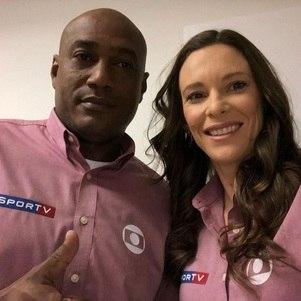 Claudinei Quirino e Fabiana Murer na Olimpíada da Globo