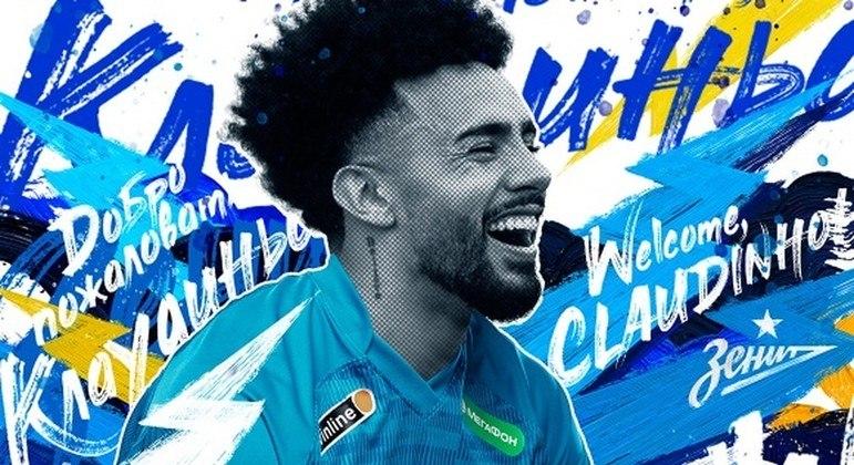 Zenit anuncia a contratação de Claudinho. Logo após a conquista da medalha de ouro