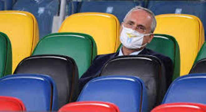 Claudio Lotito, da Lazio, mais uma confusão com exames e com o isolamento obrigatório