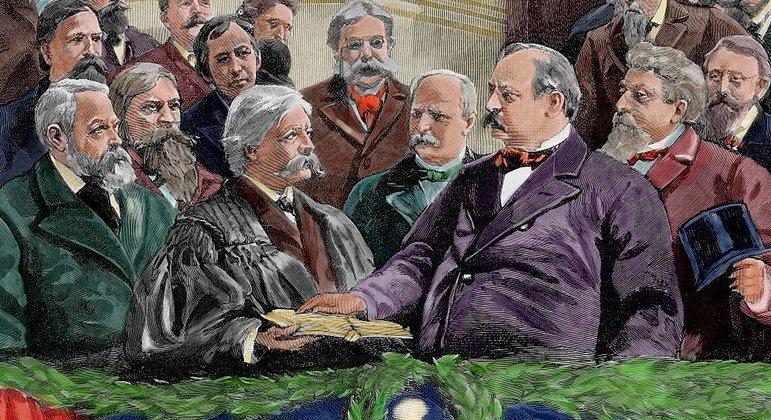 Presidente dos Estados Unidos, Cleveland, insistiu em intervir para resolver a disputa