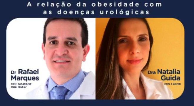 Médicos Rafael Marques e Natália Guida participaram da transmissão