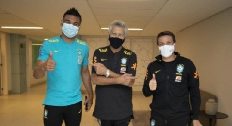 Clodoaldo, Casemiro e Juninho Paulista - Seleção Brasileira