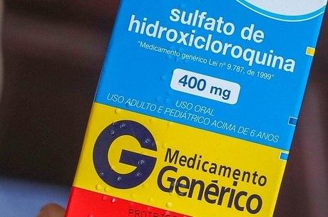 Na imagem, o medicamento cloroquina