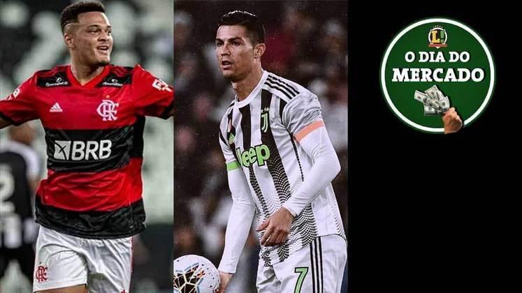 Clube espanhol perto de chegar a um acordo com o Flamengo pelo atacante Rodrigo Muniz. Juventus estipula multa para que Cristiano Ronaldo deixe a equipe. Rafael Borré negocia com o futebol europeu. Tudo isso e muito mais no Dia do Mercado de terça-feira.
