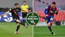 Dia do Mercado: Lewandowski na Inglaterra e Messi de saída do Barça