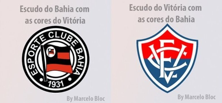 Clubes brasileiros com as cores dos rivais: Bahia e Vitória.