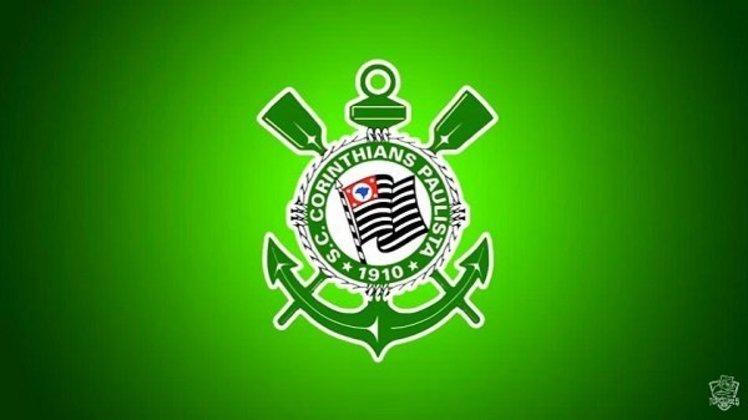 Clubes brasileiros com as cores dos rivais: Corinthians e Palmeiras.
