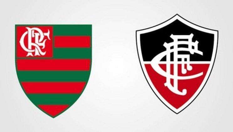 Clubes brasileiros com as cores dos rivais: Flamengo e Fluminense.