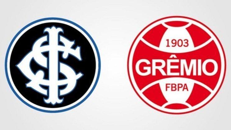 Clubes brasileiros com as cores dos rivais: Internacional e Grêmio.