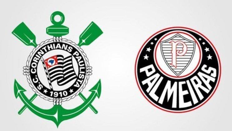 Clubes brasileiros com as cores dos rivais: Palmeiras e Corinthians.