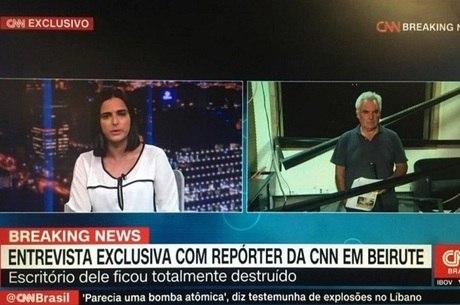 """CNN Brasil em uma """"exclusiva"""" com repórter da CNN"""