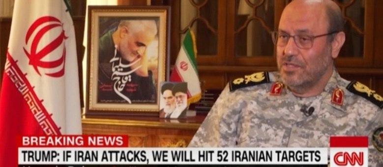 Hossein Dehghan, conselheiro militar de Khamenei, fala sobre a resposta do Irã ao ataque dos EUA