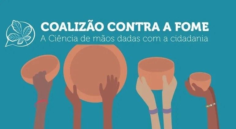 Cientistas fazem a campanha 'Coalização contra a Fome' para incentivar a doação de alimentos