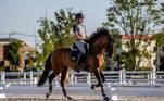 19.07.2021 - Jogos Olímpicos Tóquio 2020 - Atleta João Victor Oliva representante do hipismo adestramento do Time Brasil durante treino no Equestrian Park. Foto: Miriam Jeske/COB