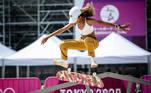 20.07.2021 - Jogos Olímpicos Tóquio 2020 - Tóquio - Ariake Urban Sports Park - Skate - Primeiro treino da equipe brasileira de Skate, na foto Rayssa Leal durante treino. Gaspar Nóbrega/COB