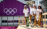 20.07.2021 - Jogos Olímpicos Tóquio 2020 - Tóquio - Ariake Urban Sports Park - Skate - Primeiro treino da equipe brasileira de Skate, na foto equipe do Skate durante treino.