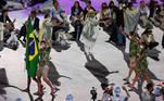 23.07.2021 - Jogos Olímpicos Tóquio 2020 - Cerimonia de abertura no estádio olímpico de Tóquio. Foto: Jonne Roriz/COB