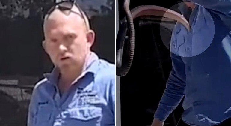 Cobra peçonhenta quase picou o rosto do apanhador acima durante resgate