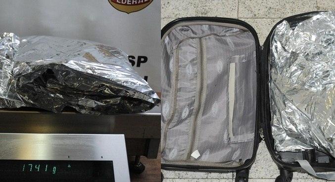 Homem foi preso neste domingo, no aeroporto de Guarulhos (SP)