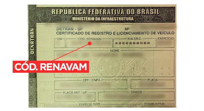 O Renavam é o número que identifica o veículo
