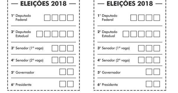 Eleitor Vota Em 6 Candidatos No 1º Turno Imprima Sua Cola