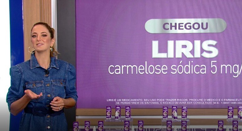 Ticiane Pinheiro explica como Liris ajuda a manter os olhos saudáveis