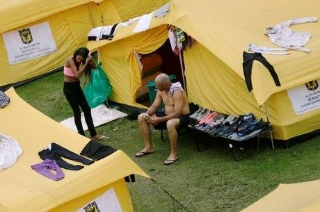 Reinaldo passou por abrigos na Colômbia