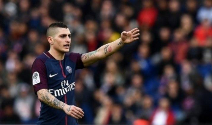 Com 1,65m, Marco Verratti, do Paris Saint-Germain, continua entre os mais baixos da lista.