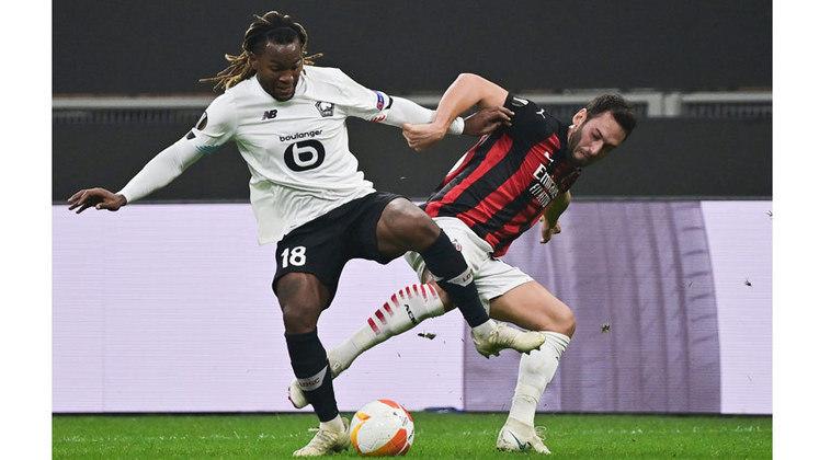 Com 23 anos, o meia Renato Sanches vem gastando a bola no Lille. Esta semana o jogador foi o maestro do time na vitória de 3 a 0 sobre o Mila, na Itália, pela Liga Europa.