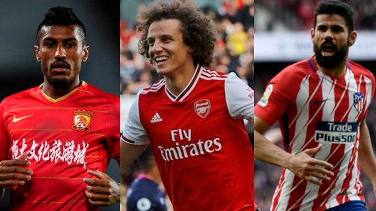 Com a chegada do mês de julho, muitos brasileiros ficaram sem contrato e estão livres no mercado, como Diego Costa, Paulinho e David Luiz. No entanto, os três não são os únicos a estar sem clube no momento. Confira a lista completa