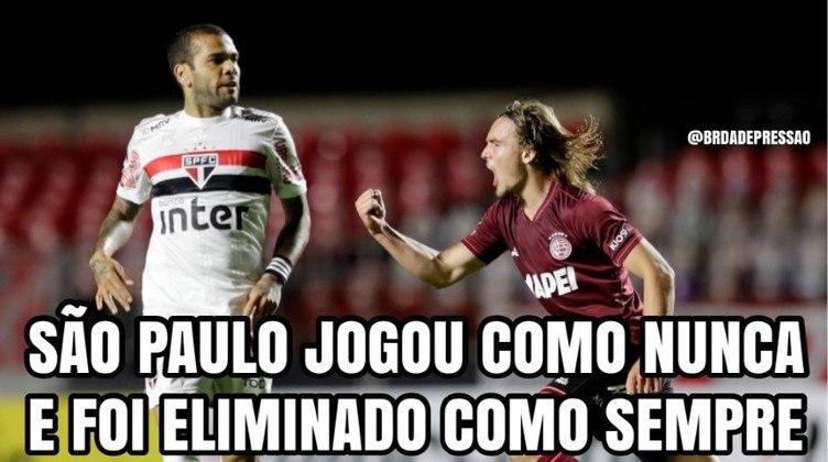 Com a eliminação na Libertadores 2020, o São Paulo foi para a Copa Sul-Americana e amargou mais uma eliminação. Desta vez, o algoz foi o Lanús na segunda fase da competição