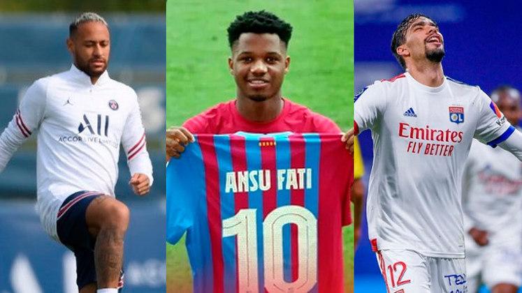 Com a saída de Lionel Messi, Ansu Fati, de apenas 19 anos, é o novo camisa 10 do Barcelona, e tem a responsabilidade de continuar um legado tão vitorioso. Veja quem são os camisas 10 dos principais clubes europeus na atual temporada
