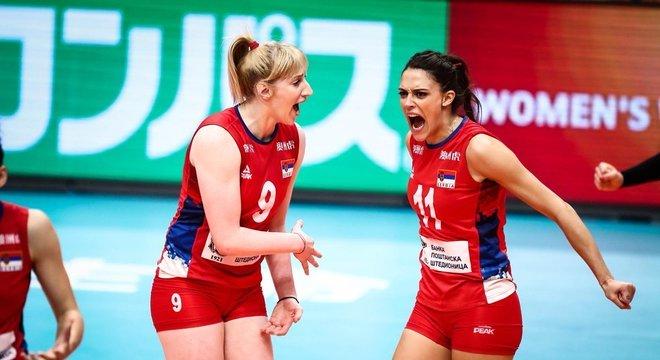 Com a vitória no tie-break, a Sérvia conquistou o Mundial Feminino de Vôlei