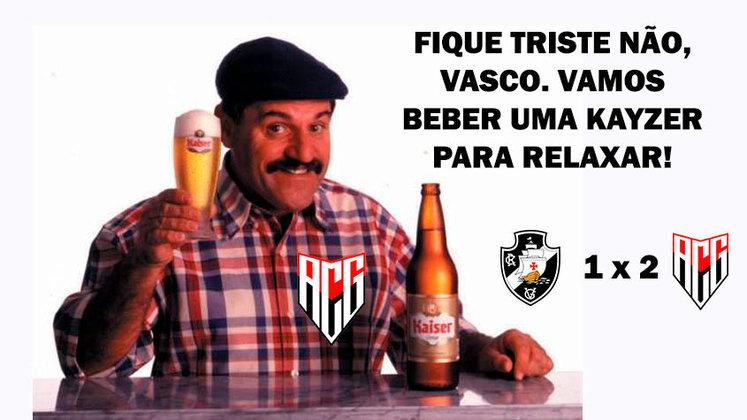 Com dois gols de Renato Kayzer, o Vasco foi derrotado pelo Atlético dentro de São Januário e perdeu a oportunidade de assumir a vice-liderança do Brasileirão. Algoz dos clubes do Rio de Janeiro no campeonato (também venceu o Flamengo e empatou com Fluminense), time goianiense foi chamado de