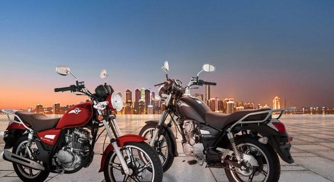 Com estilo clássico, a parcela da Chopper Road 150 é de R$ 156/mês / Divulgação
