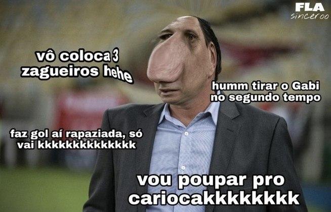 Com gol de Gustavo Henrique nos minutos finais, o Flamengo garantiu a classificação para o mata-mata da competição com 1 rodada de antecedência. Confira os memes da partida! (Por Humor Esportivo)