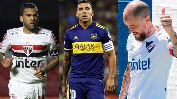 Foi dada a largada para mais uma edição de Libertadores e, neste ano, os 32 clubes classificados para o torneio tem alguns personagens com muita história (e idade), mas que ainda tem muita lenha para queimar. Veja veteranos da bola que estão na disputa da Copa Libertadores 2021